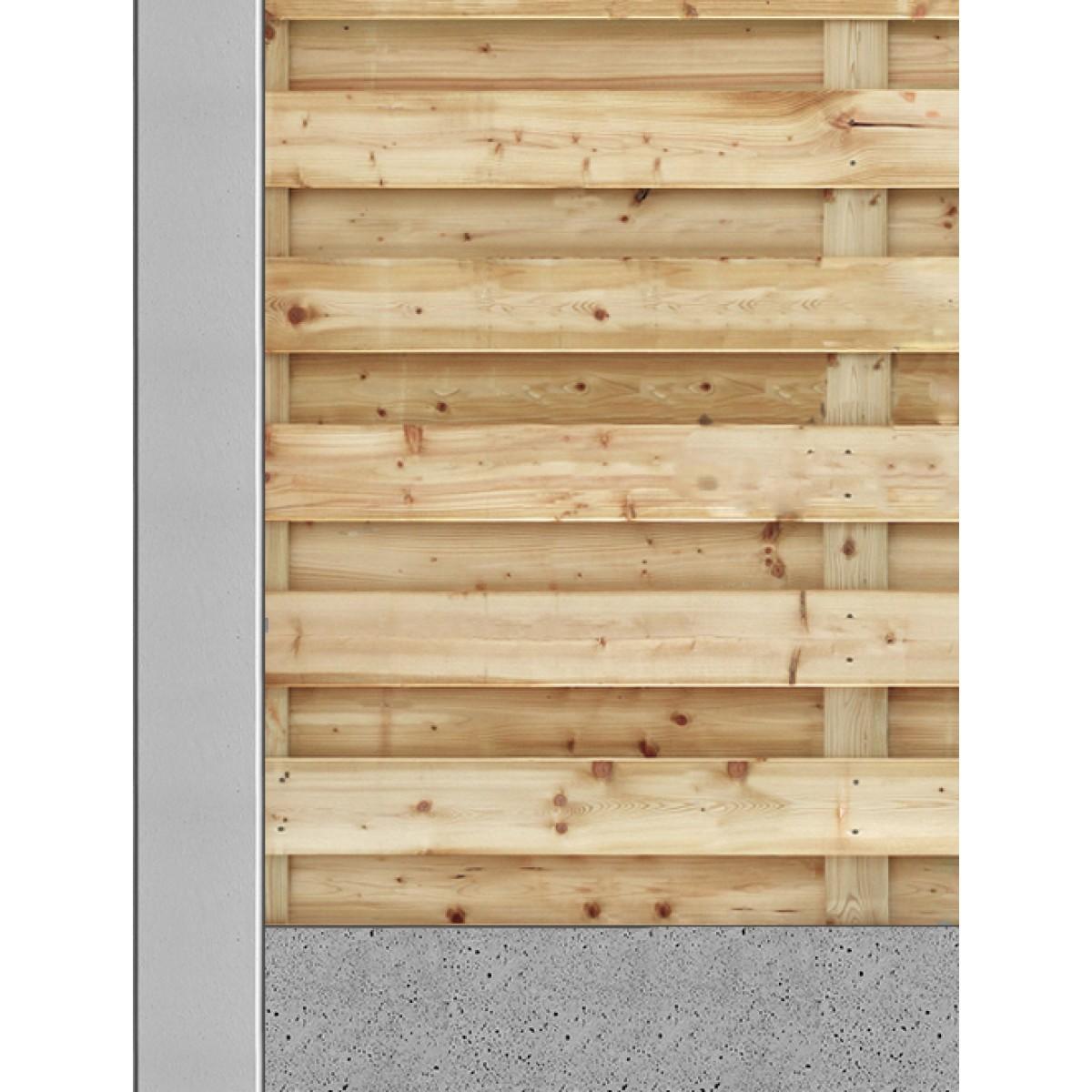 Hout beton schutting bij Schutting33
